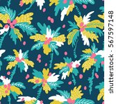 seamless pattern with... | Shutterstock .eps vector #567597148