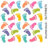 background with colorful baby... | Shutterstock .eps vector #567598870