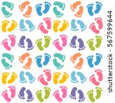 background with colorful baby... | Shutterstock .eps vector #567599644
