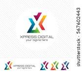 colorful letter x logo design... | Shutterstock .eps vector #567602443