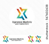 colorful letter x logo design... | Shutterstock .eps vector #567602638