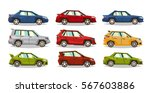 set of cars. collection vehicle.... | Shutterstock .eps vector #567603886