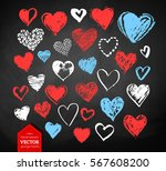 vector color  red  blue and... | Shutterstock .eps vector #567608200