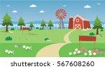 farm field vector | Shutterstock .eps vector #567608260