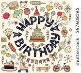 poster for the birthday... | Shutterstock .eps vector #567608263