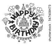 poster for the birthday... | Shutterstock .eps vector #567608473
