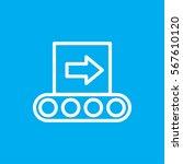 conveyor icon vector... | Shutterstock .eps vector #567610120