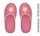 slippers icon in cartoon style... | Shutterstock .eps vector #567611620