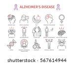 alzheimer's disease and... | Shutterstock .eps vector #567614944