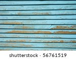 Light Blue Painted Wood Strips...