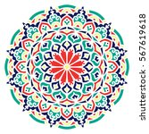 mandala. vector ethnic oriental ... | Shutterstock .eps vector #567619618