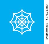 spider web icon illustration... | Shutterstock .eps vector #567621280