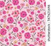 seamless pattern delicate... | Shutterstock . vector #567621646