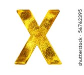 Gold letter - X - stock photo