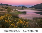 mount etna  in sicily italy  at ... | Shutterstock . vector #567628078