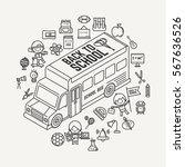 back to school illustration... | Shutterstock .eps vector #567636526
