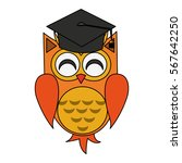 owl cartoon icon | Shutterstock .eps vector #567642250