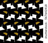 flat geometric style seamless... | Shutterstock .eps vector #567642418