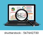 flat illustration web analytics ... | Shutterstock .eps vector #567642730