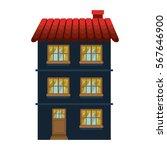 facade confortable residence... | Shutterstock .eps vector #567646900