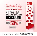 valentines day sale flayers.... | Shutterstock .eps vector #567647194