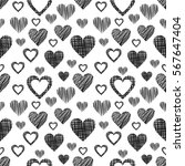 seamless vector pattern with... | Shutterstock .eps vector #567647404