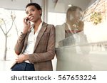 portrait of a beautiful african ... | Shutterstock . vector #567653224