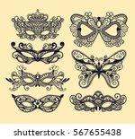 mardi gras carnival mask of... | Shutterstock .eps vector #567655438