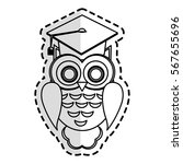 owl cartoon icon | Shutterstock .eps vector #567655696