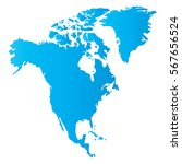 north america map | Shutterstock .eps vector #567656524