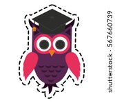 owl cartoon icon | Shutterstock .eps vector #567660739