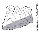 sticker silhouette landscape... | Shutterstock .eps vector #567660790
