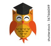 owl cartoon icon | Shutterstock .eps vector #567666049
