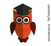 owl cartoon icon | Shutterstock .eps vector #567666469