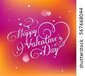 vector happy valentines day...   Shutterstock .eps vector #567668044