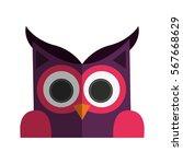 owl cartoon icon   Shutterstock .eps vector #567668629