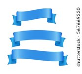 blue ribbon banners set.... | Shutterstock .eps vector #567669220