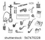 set of vintage smoking tobacco... | Shutterstock .eps vector #567670228