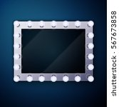 make up mirror with light bulbs   Shutterstock .eps vector #567673858