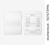 printed receipt vector | Shutterstock .eps vector #567673996