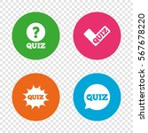 quiz icons. speech bubble with... | Shutterstock .eps vector #567678220