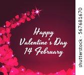 valentine s day. celebratory... | Shutterstock .eps vector #567681670