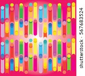 multicolored dynamic stripes... | Shutterstock .eps vector #567683524