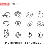 fruit icon collection   vector... | Shutterstock .eps vector #567685210
