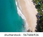 aerial view of white sand beach ... | Shutterstock . vector #567686926