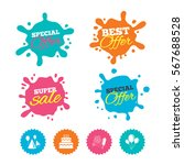 best offer and sale splash... | Shutterstock .eps vector #567688528