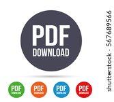 pdf download icon. upload file... | Shutterstock .eps vector #567689566