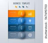 infographics template four... | Shutterstock .eps vector #567690703