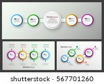 vector set of colorful... | Shutterstock .eps vector #567701260