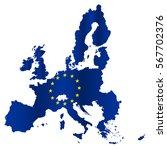 simple all european union... | Shutterstock .eps vector #567702376